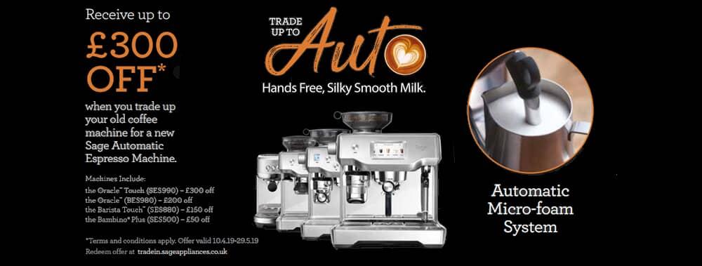 Sage Coffee Machine Trade Up