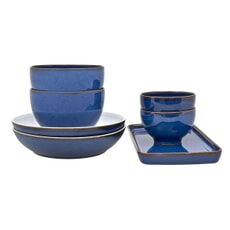Denby Imperial Blue 7 Piece Takeaway Set