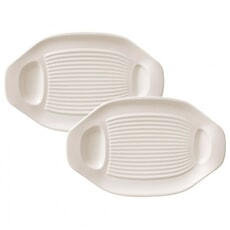 Villeroy and Boch BBQ Passion Barbecue Vegetable Plate Set Of 2