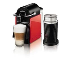 Magimix Nespresso Pixie Clips White / Neon Coral With Aeroccino 3