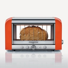 Magimix Vision 2 Slice Stainless Steel And Glass Toaster - Orange