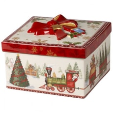 Villeroy And Boch Christmas Toys Medium Square Gift Box Train