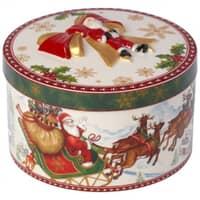 Villeroy And Boch Christmas Toys Medium Round Gift Box Santas Flight