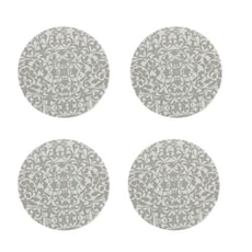 Denby Monsoon Filigree Silver Round Coasters Set Of 4