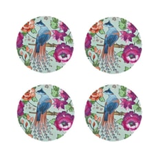 Denby Monsoon Kyoto Blue Round Coasters Set Of 4