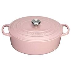 Le Creuset Signature Cast Iron 31cm Oval Casserole Chiffon Pink