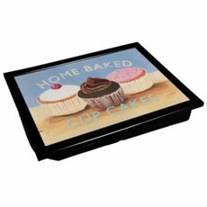 Denby Lap Trays - Cupcake With Black Edge