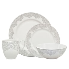 Denby Monsoon Filigree Silver 16pce Box Set