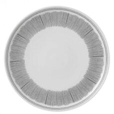 Royal Doulton Ellen DeGeneres Charcoal Grey Lines Dinner Plate