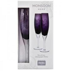 Denby Monsoon Cosmic Champagne Flutes Set Of 2