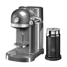 KitchenAid Artisan Nespresso Maker With Aeroccino - Medallion Silver