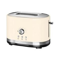 KitchenAid Manual Control 2 Slot Toaster Almond Cream