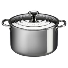 Le Creuset Signature Stainless Steel 28cm Uncoated Stockpot With Lid