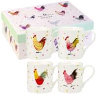 Alex Clark Rooster Larch Mug 4 Piece Set 250ml