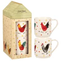 Alex Clark Rooster Tower Rooster Stacking Mug Set 2
