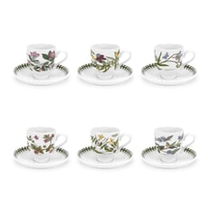 Portmeirion Botanic Garden - Coffee Cup and Scr (Traditional) Set/6