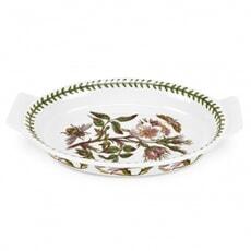 Portmeirion Botanic Garden - Oval Gratin Dish With Dog Rose Motif