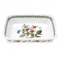 Portmeirion Botanic Garden - Small Lasagne Dish With Fuschia Motif