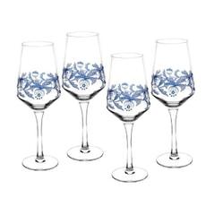 Spode Blue Italian - Wine Glasses Set 4