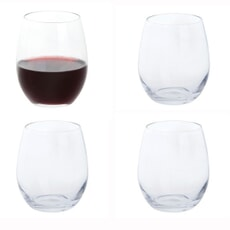 Dartington Red Wine Stemless Glass Set Of 4