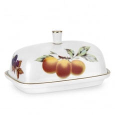Royal Worcester Evesham Gold Covered Butter Dish