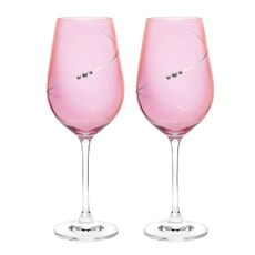 Portmeirion Auris Pink Red Wine Glass Set of 2