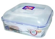 Lock and Lock  Square Lunch Box and Curved Lid 1.7ltr
