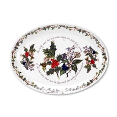 Portmeirion Holly and Ivy - 13 Inch Oval Platter