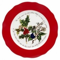 Portmeirion Holly and Ivy - Charger Plate 13 Inch (Red Border)