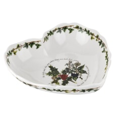 Portmeirion Holly and Ivy - Scalloped Heart Dish