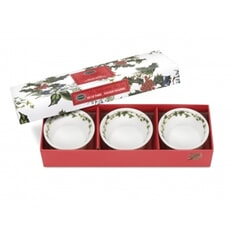 Portmeirion Holly and Ivy - Tealight Holder Set Of 3