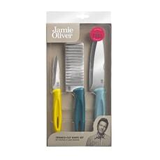 Jamie Oliver Kitchen Kit Crinkle Cut Knife Set