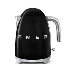 Smeg Kettle Black 3D Logo