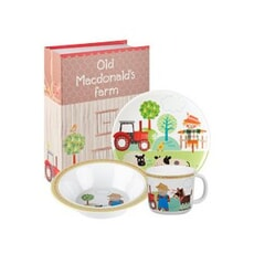 Churchill Little Rhymes - Old MacDonald Melamine Set