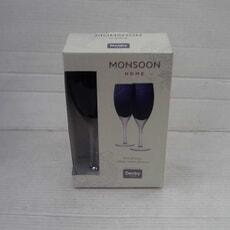 Openbox Denby Monsoon Cosmic White Wine Glasses Set Of 2