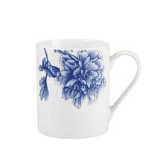 Royal Worcester Peony Blue Coffee Mug