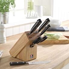 Sabatier Trompette 4 Piece Knife And Scissors Block Set