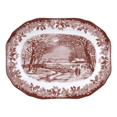 Spode Winters Scene Serving Dish