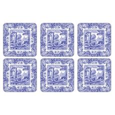 Spode Blue Italian - Coasters Set Of 6