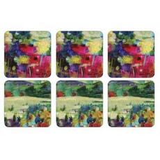 Portmeirion Pimpernel - Impressionist Flowers Coasters x 6
