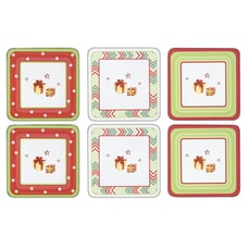 Spode Christmas Jubilee Coasters - Set Of 6