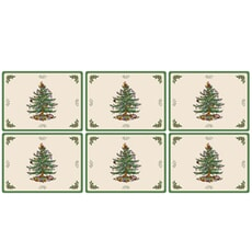 Spode Christmas Tree Placemats Set Of 6