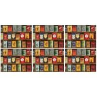 Portmeirion Pimpernel - Vintage Tins Placemats Set of 6