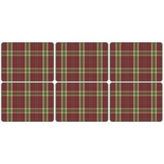 Spode Tartan Red Placemats Set Of 6