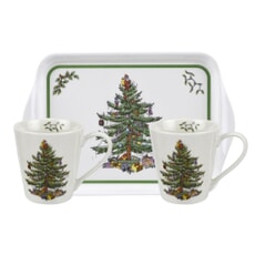 Spode Christmas Tree - Mug And Tray Set