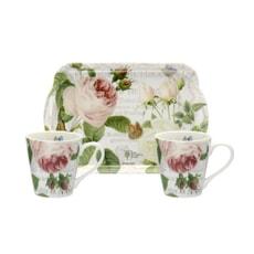 Portmeirion Pimpernel - RHS Roses Mug and Handled Tray Set