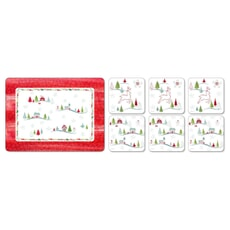 Portmeirion Christmas Wish - Placemats Plus Free Coasters Set 6