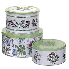 Portmeirion Botanic Garden - Round Tins Set Of 3 Poppy