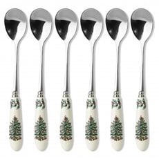Spode Christmas Tree Tea Spoons Set Of 6