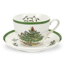 Spode Christmas Tree Tea Cup And Saucer